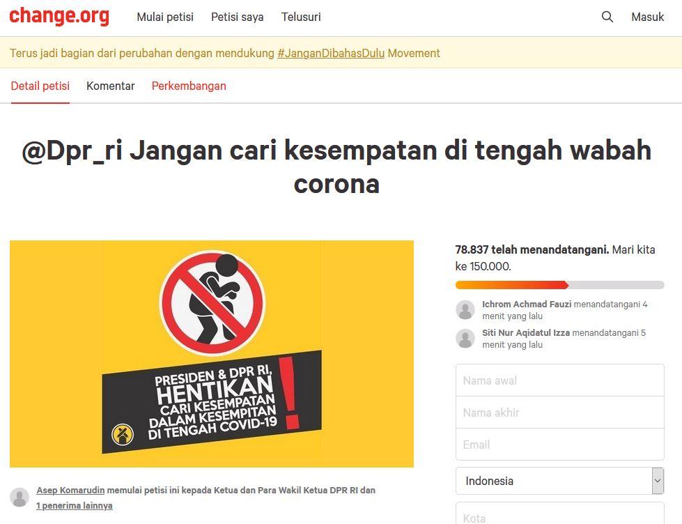 78 Ribu Orang Tolak Omnibus Law Cipta Kerja Di Petisi Online Satukanindonesia Com